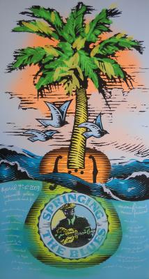 Print Design Portfolio | Springing The Blues Poster 2003 | David B. Lee