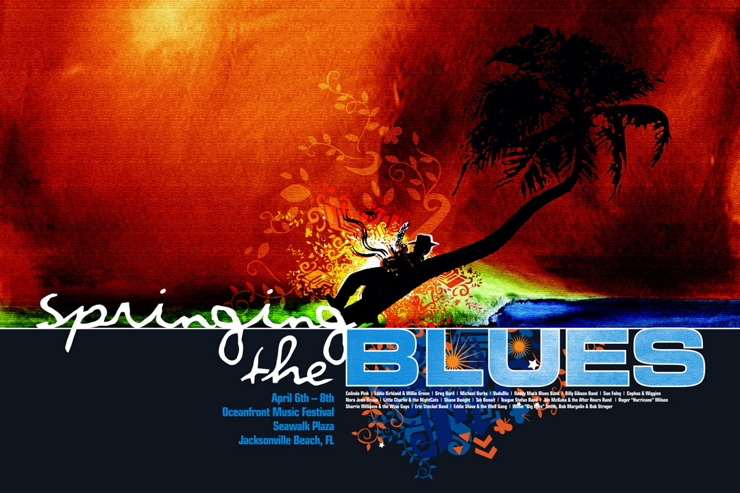 Print Design Portfolio | Springing The Blues Poster 2007 | David B. Lee