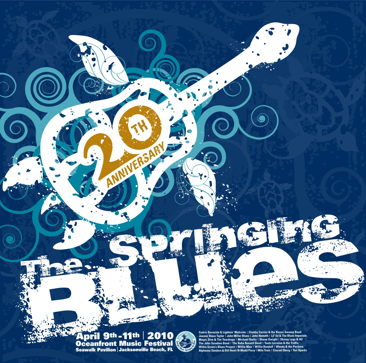 Print Design Portfolio | Springing The Blues Poster 2010 | David B. Lee
