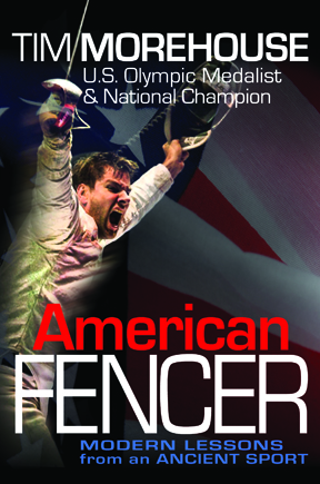 Print Design Portfolio | Tim Morehouse American Fencer Book Cover | David B. Lee