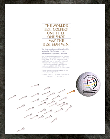 Print Design Portfolio | American Express Golf Championship Ad | David B. Lee