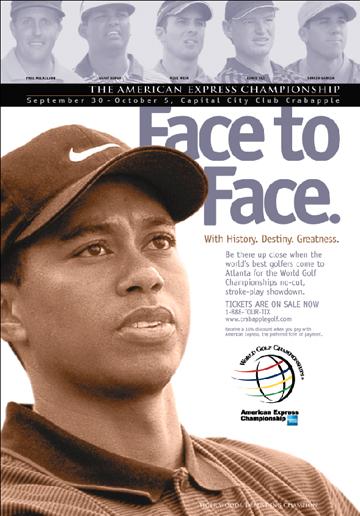 Print Design Portfolio | American Express Golf Championship Poster | David B. Lee