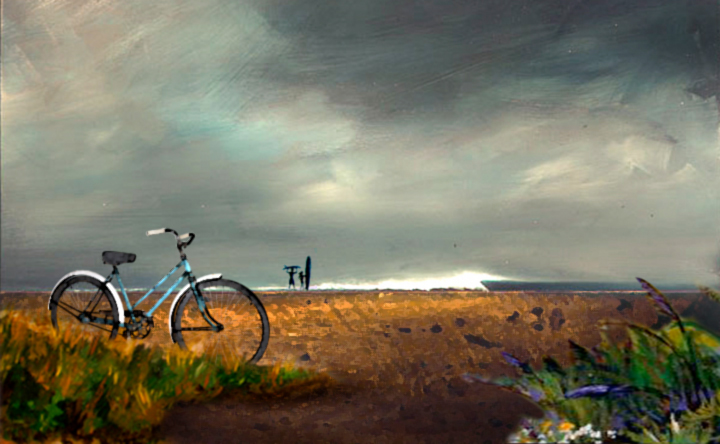 Painting Design Portfolio | Beach Cruiser | David B. Lee