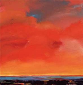 Painting Design Portfolio | Red Sky | David B. Lee