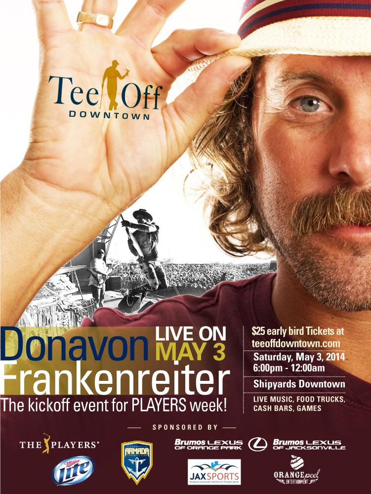 Print Design Portfolio | Tee Off Downtown Poster | David B. Lee