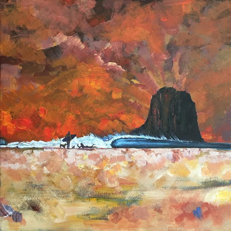 Painting Design Portfolio | Hot Dog Beach | David B. Lee
